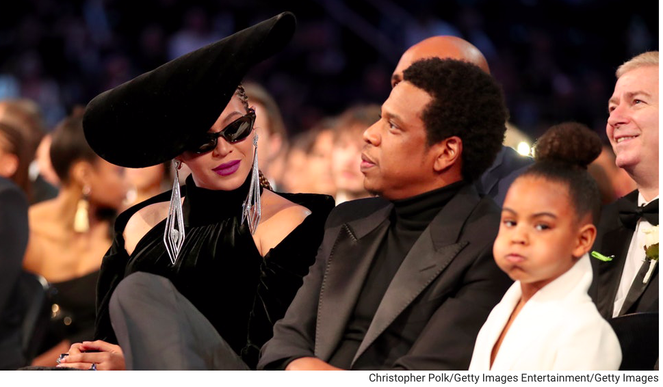 image of Beyonce, Jay-Z, and Blue Ivy