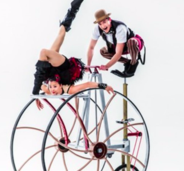 image of Cirque Mechanics' new show Pedal Punk